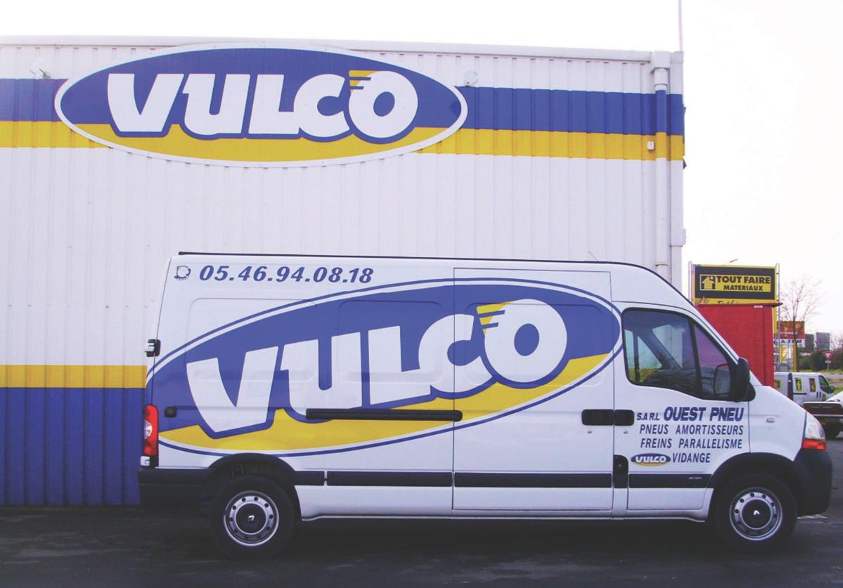 Décoration sur Véhicule de l'entreprise Vulco